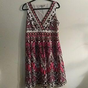 5/$25NY Colllection dress sz L NWOT
